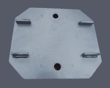 Промежуточная пластина крепления коника (ПРТ.103.03.000 СБ) оцинкованная/окрашенная