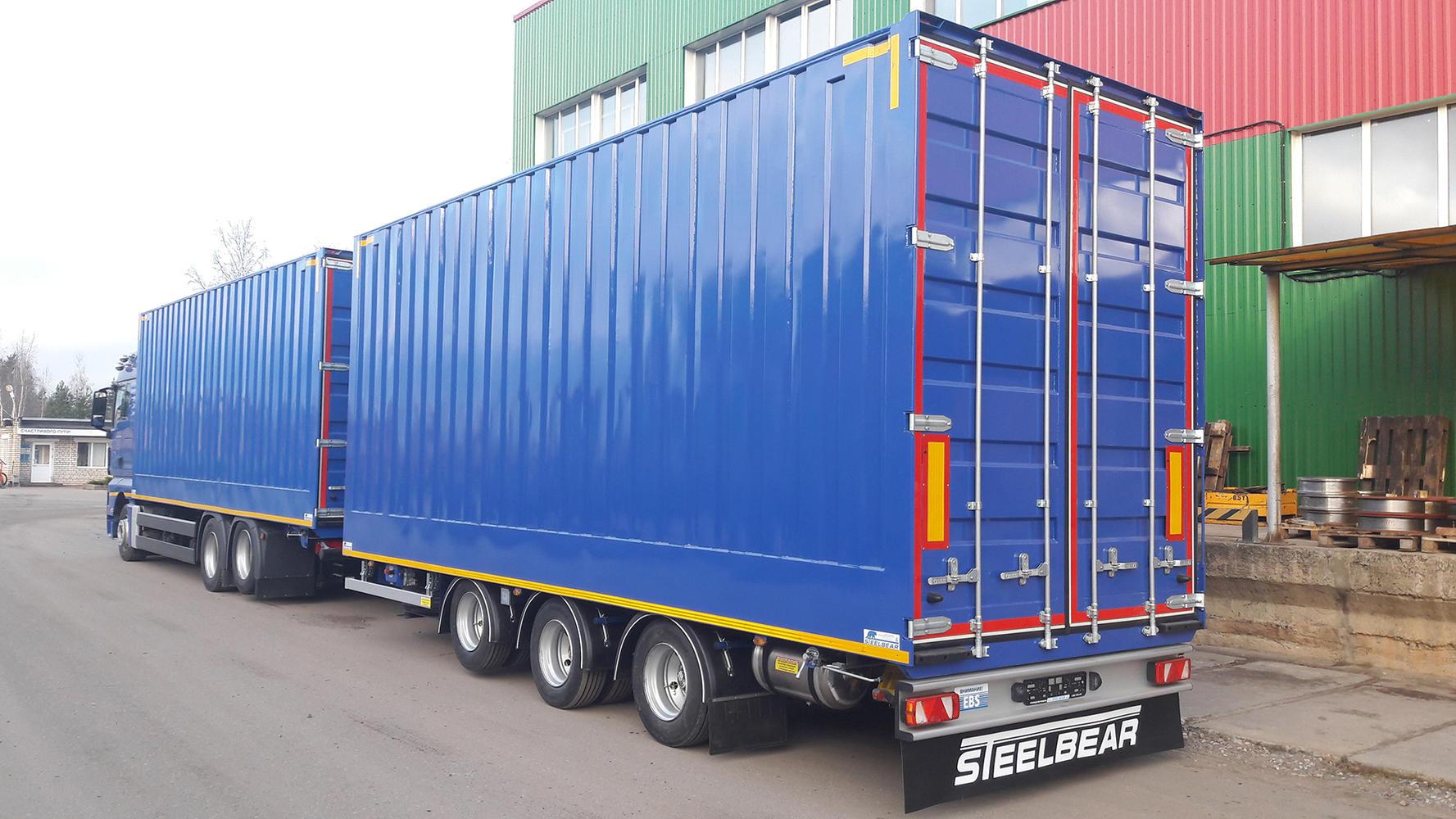 Фото грузовых европейских прицепов